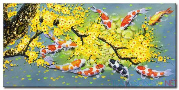22 mẫu tranh cá chép đẹp và ý nghĩa
