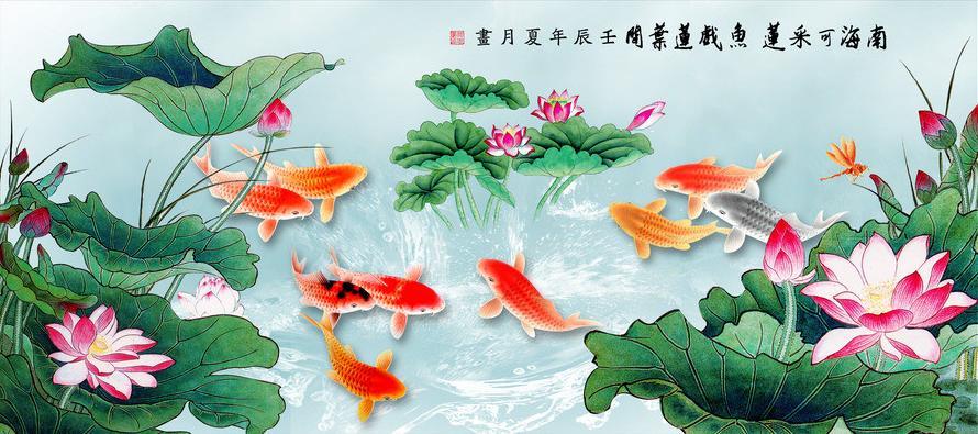 Ý nghĩa tranh cá chép trong phong thủy