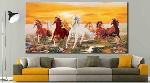 Tranh Canvas ngựa