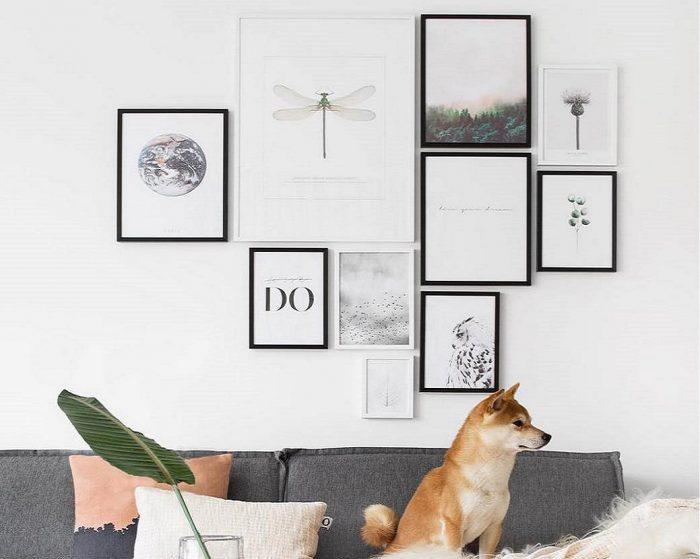 Cách sắp xếp bố cục tranh treo tường