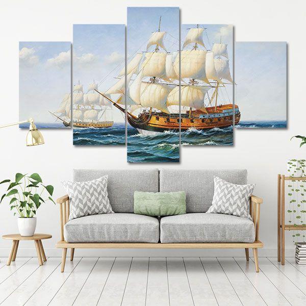 """Tranh Canvas biển """"Thuận buồm xuôi gió"""""""