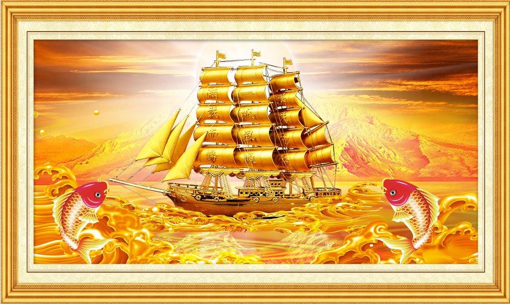 Tranh phong thủy mừng tân gia thuận buồm xuôi gió