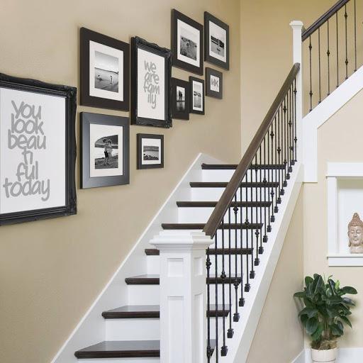 Lựa chọn tranh treo cầu thang đẹp, hợp thiết kế và phong cách ngôi nhà.