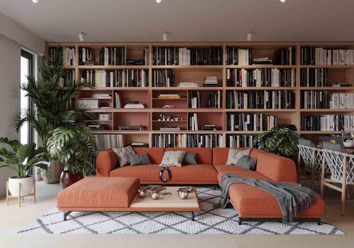 Có nên trang trí nội thất bằng sách?