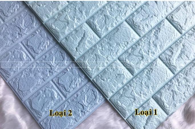 Xốp dán tường loại 1 nhẵn bóng và tinh tế hơn loại 2