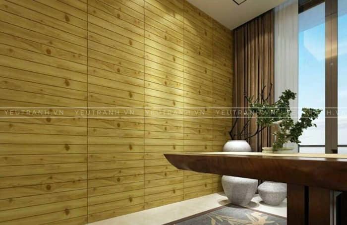 Xốp dán tường giả gỗ giá rẻ tại hà nội